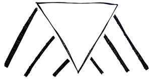 Empty upside-down triangle. Space to enter names of pillars of support on the right and left.